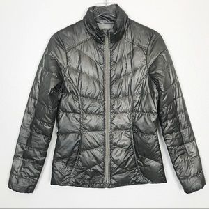 Athleta Matte Metallic Down Puffer Jacket SM